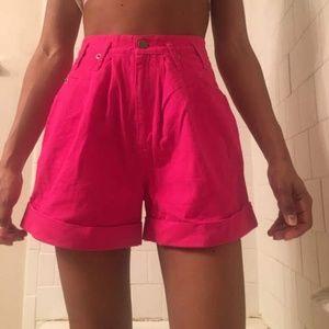Vtg hot pink pants